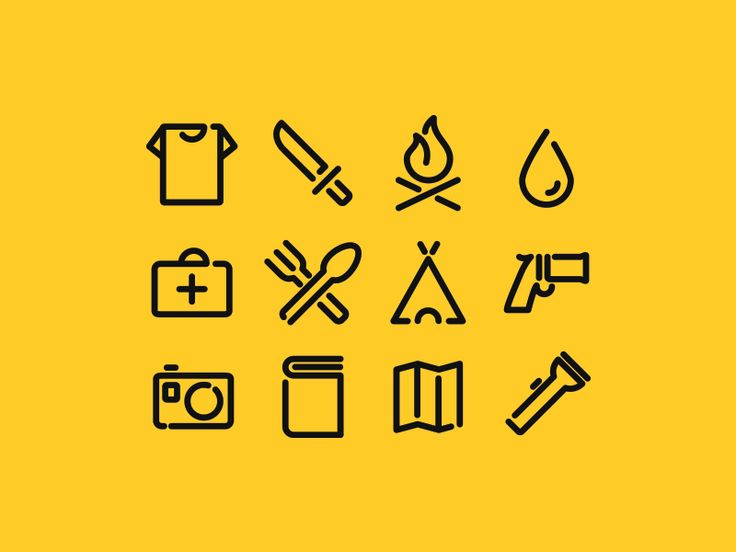 Survival icons pack by Pavel Pavlov