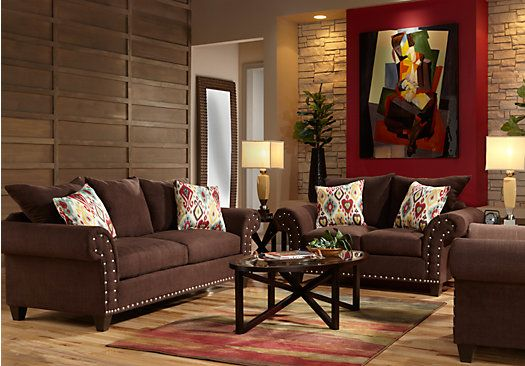 Shop for a algoria heights brown 7pc classic living room for Find living room furniture