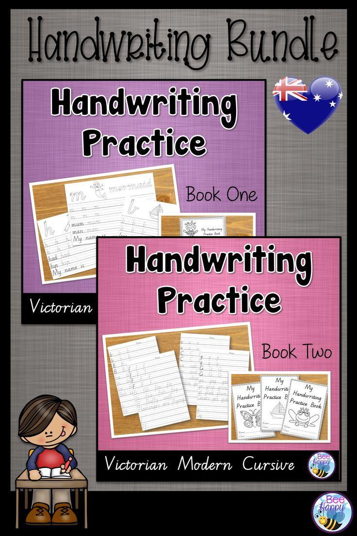 australian handwriting practice victorian modern cursive bundle english handwriting practice. Black Bedroom Furniture Sets. Home Design Ideas