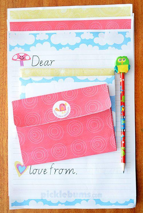 Free Printable Kids Letter Writing Set Kids Letters