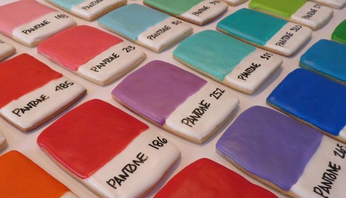 Pantone cookies.