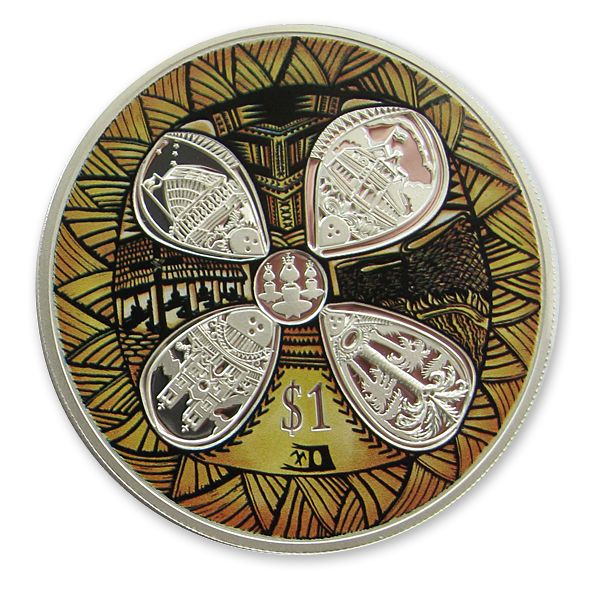 New Zealand and Samoa silver proof Friendship coin designed by Michel Tuffery
