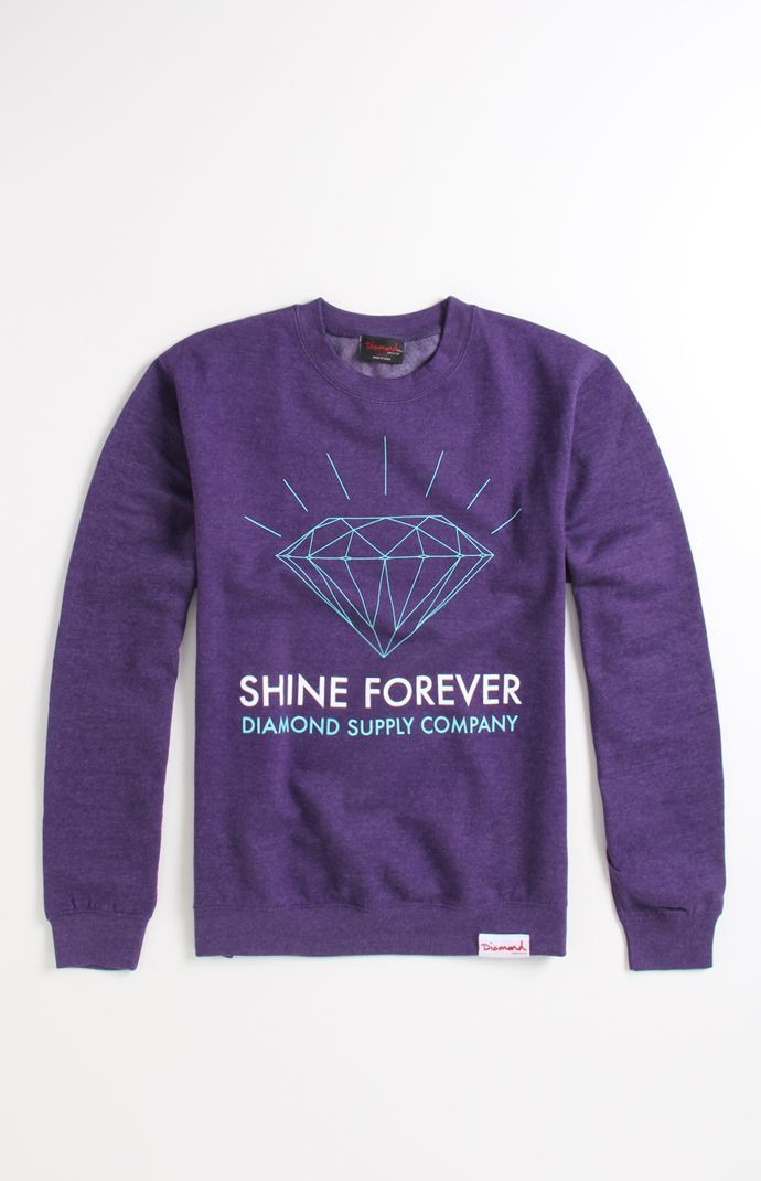 (Limited Supply) Click Image Above: Mens Diamond Supply Co Hoodie - Diamond  Supply Co Shine Forever Crew Fleece