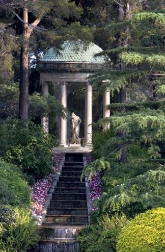 TEMPLE d'AMOUR~  Ephrussi de Rothschild Villa and Gardens. Saint-Jean-Cap-Ferrat on the Côté d'Azur. The villa is one of the most beautiful on the Côte d'Azur, and is museum open to the public.