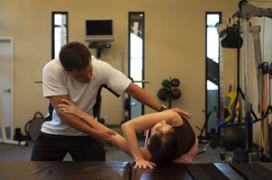shoulder blade stretching can be performed either standing