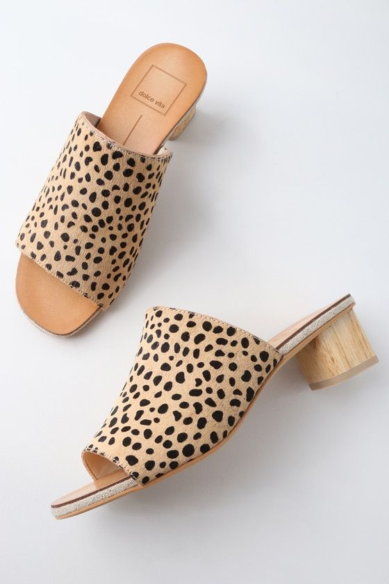 2bbbde9c7 Equal parts chic and causal, the Dolce Vita Kaira Leopard Pony Fur Mules  are sure