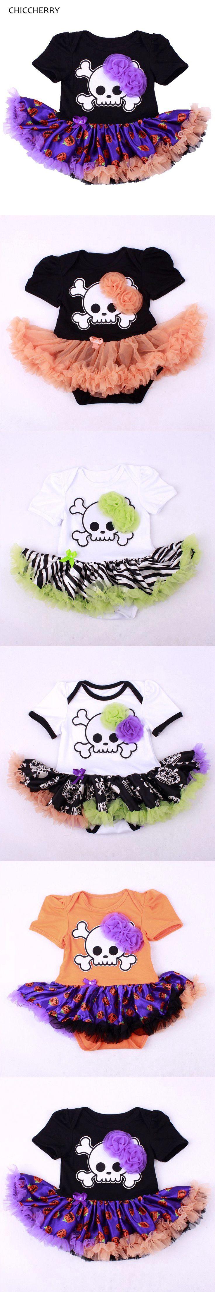 Skull Baby Halloween Costume Baby Romper Dress Baby Girl Overall Wear Girls Jumpsuit Fantasia De Bebe New Born Infant-Clothing