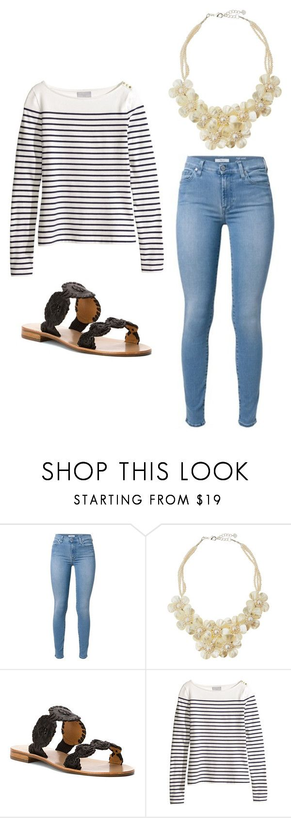 """Outfit Idea by Polyvore Remix"" by polyvore-remix ❤ liked on Polyvore featuring NAKAMOL, Jack Rogers and H&M"