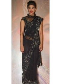 New Arrival Black Fancy Saree By Kmozi..  http://www.kmozi.com/bollywood-replica/bollywood-saree/new-arrival-black-fancy-saree-by-kmozi-783