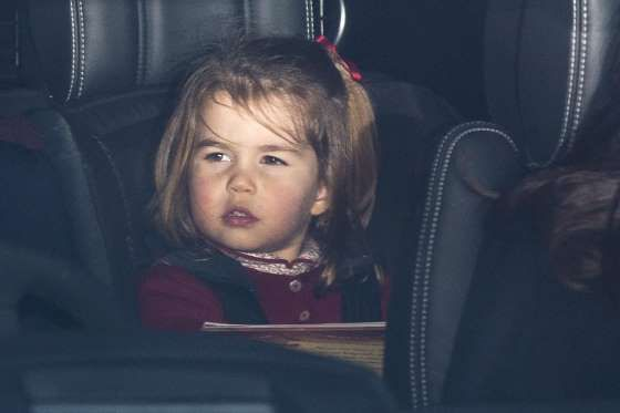 Princess Charlotte looked very grown up — and the spitting image of her great-grandmother, Queen Eli... - Mark Cuthbert/UK Press/Gettya