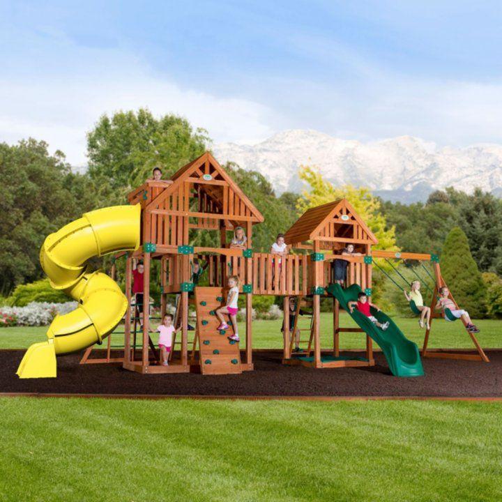 Backyard Odyssey Reno Cedar Playset Backyard Landscaping Designs