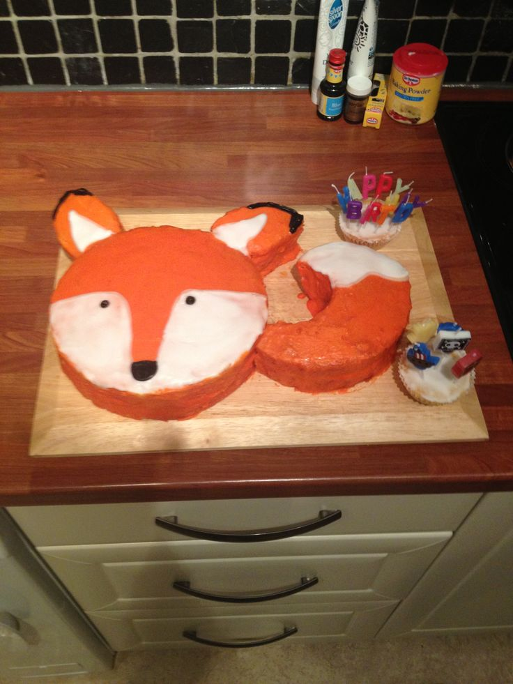 15 Best Fox Cake Images On Pinterest Fox Cake Birthdays