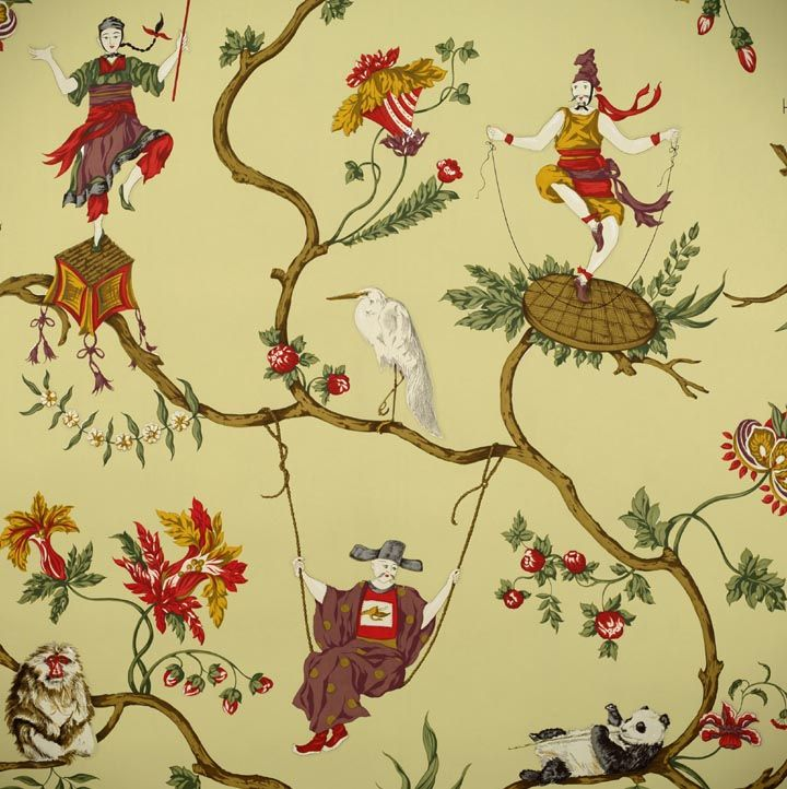 1000 images about amazing wallpaper on pinterest silk for Chinoiserie mural wallpaper
