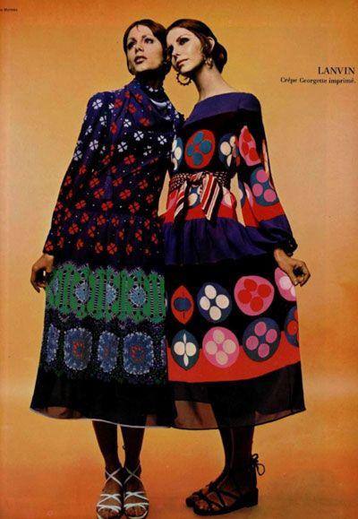 1970 Lanvin circle print dresses Had something similiar in the 70's.....