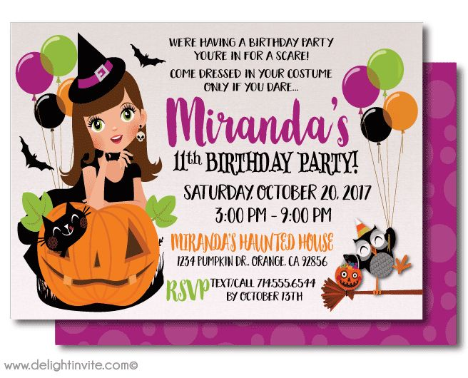 Best Halloween Digital Printable Invitations Images On - Halloween birthday invitations party