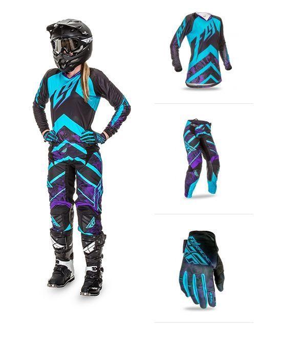 2016 fly racing Purple women kinetic MX 2-3 pc combo riding gear motocross atv #FlyRacing #RidingGearcombo