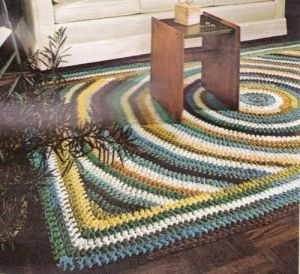 Crochet Stitches To Inches : Vintage Pattern to Make A Crocheted Shaker Design Rug,60X100 Inches by ...