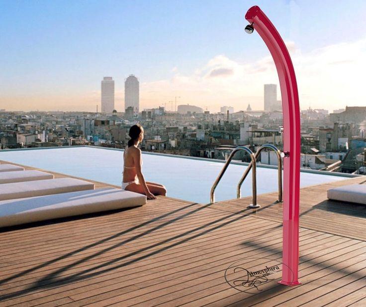 Doccia solare JOLLY A500 con miscelatore in alluminio giardino piscina spiaggia