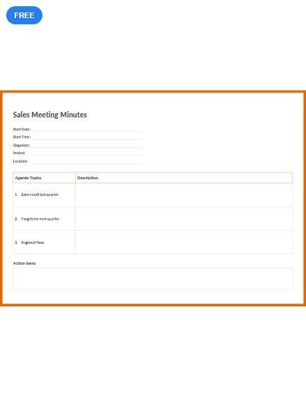 sales meeting minutes meeting minutes templates designs 2019