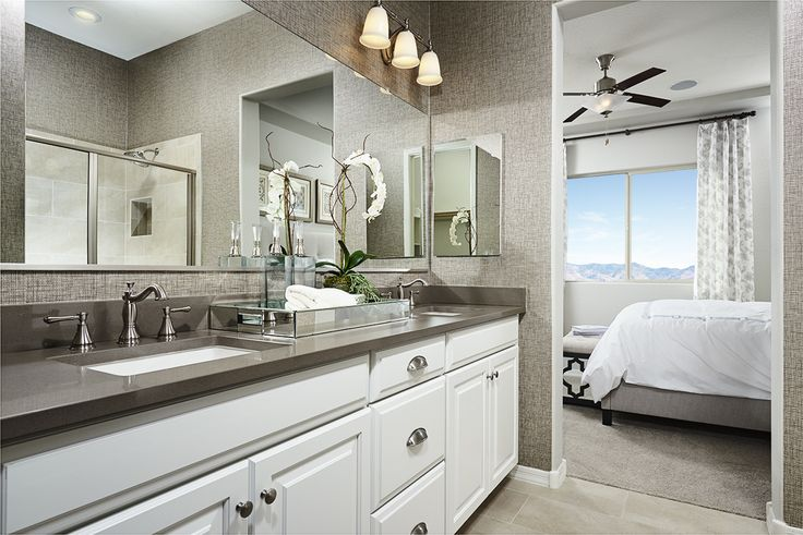 Are double sinks in the master bath a MUST for your next home? | Allman model home | Mesa, Arizona | Richmond American Homes