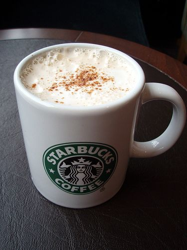 *Chai Tea Latte* My favorite drink at Starbucks.