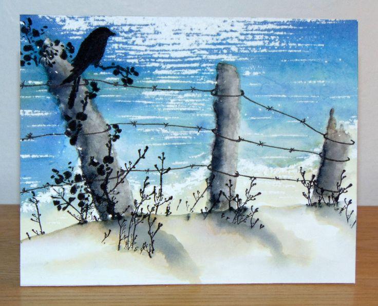 Cloture bord de mer penny black carte avec fond encr for Cloture bord de mer