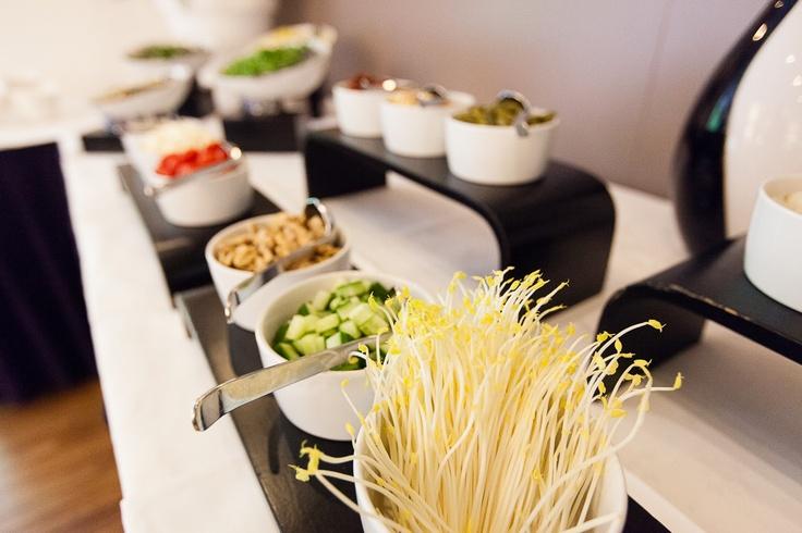 Een onderdeel van het uitgebreide saladebuffet bij Kaap Doorn