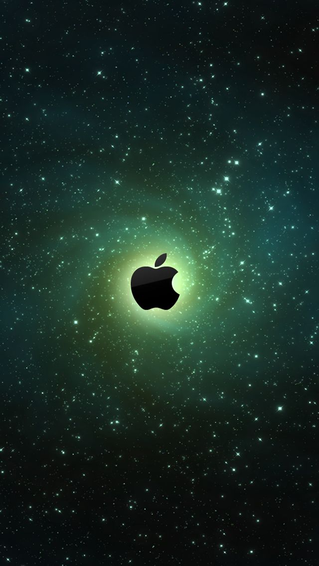 Green Apple Galaxy iPhone5 Wallpaper (640x1136)