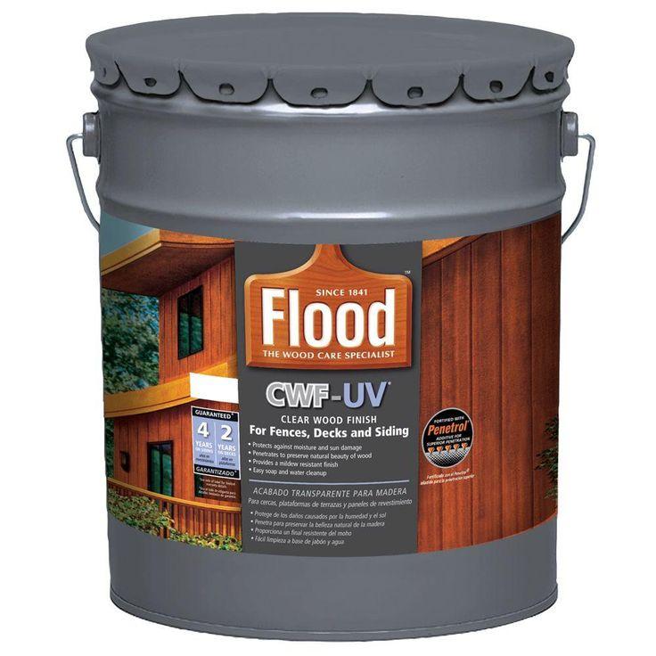 Flood 5 gal clear cwfuv exterior wood finishfld54205
