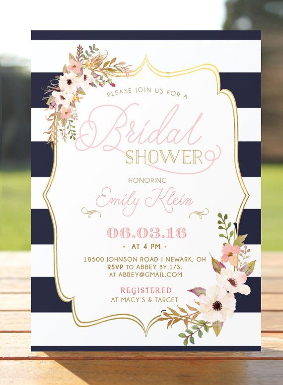 bridal shower invitation bridal brunch by
