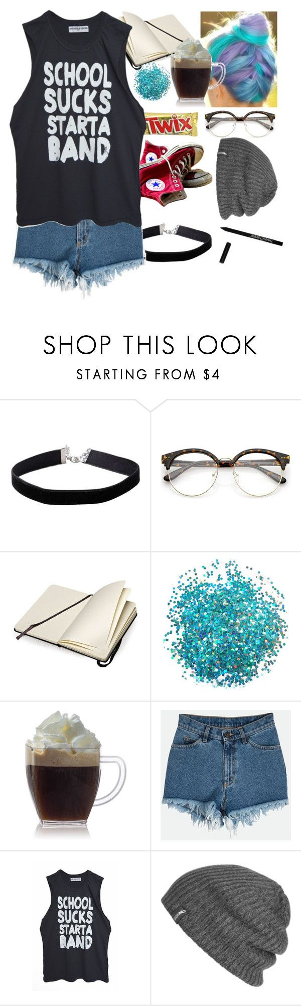 """4 years"" by infizity ❤ liked on Polyvore featuring Miss Selfridge, Sanders, Converse, Moleskine, Outdoor Research and Manic Panic NYC"