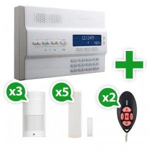 Alarme sans fil Paradox Magellan MG-6250 GSM Kit 5 - contenu du pack : La centrale d'alarme Paradox MG-6250 GSM 3 détecteurs volumétriques 5 détecteurs d'ouverture 2 télécommandes 6 fonctions Batteries et kit de fixation La notice d'utilisation en français