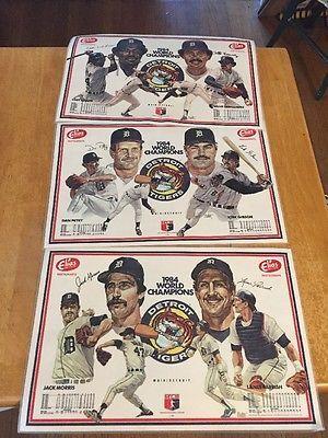 1984 Detroit Tigers World Champions Elias Brothers Restaurant Plastic Placemat 3