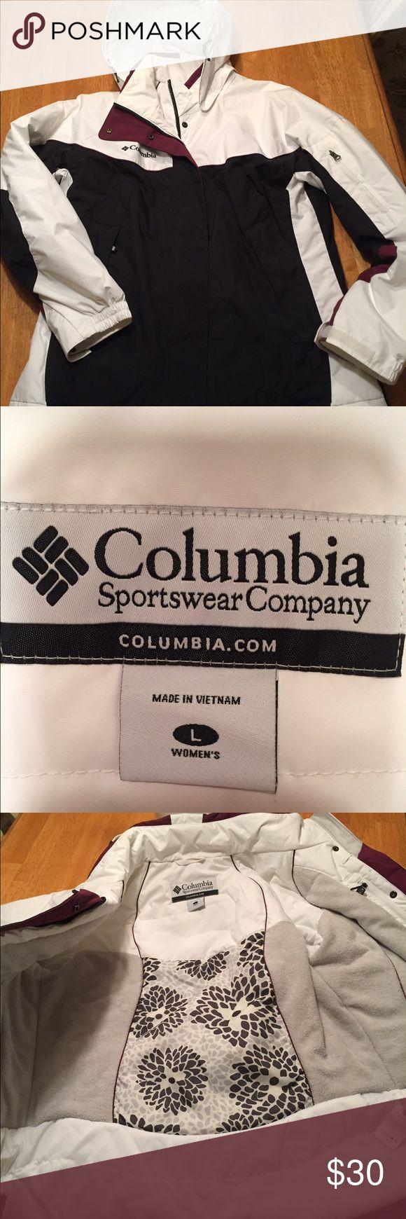 Women's Columbia Jacket White/black women's Columbia snow jacket Columbia Jackets & Coats Utility Jackets