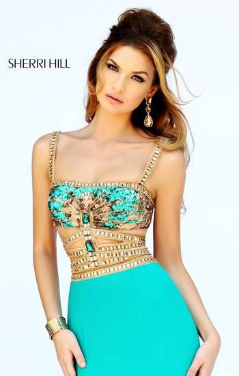 Almost like Jasmine. Super trendy Sherri Hill prom dress. For the 2015 dress collection