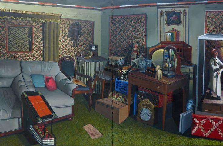 Mathieu Cherkit Parade, 2014  Huile sur toile 190 x 290 cm Oil on canvas 7451⁄64 x 11411⁄64in