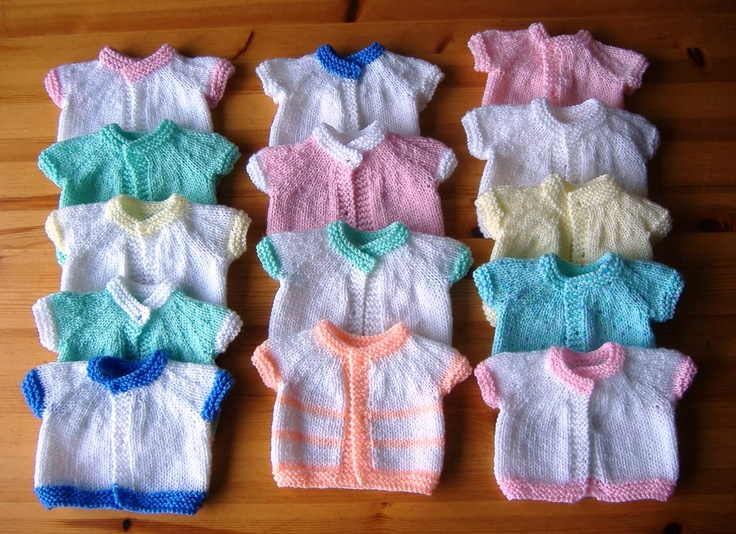 Premature Baby Cardigans - Charity Knitting