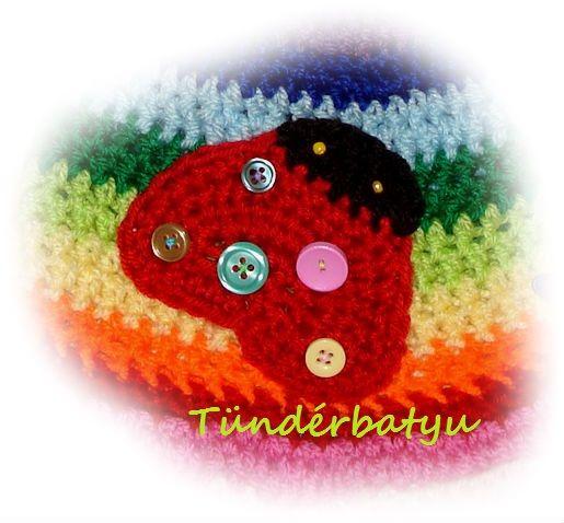 crocheted ladybug