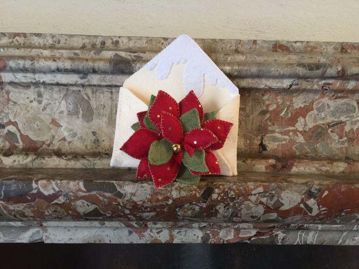 Christmas felted decorations: Santa's envelope ✉️💌🎁🎅🏻🎄💫
