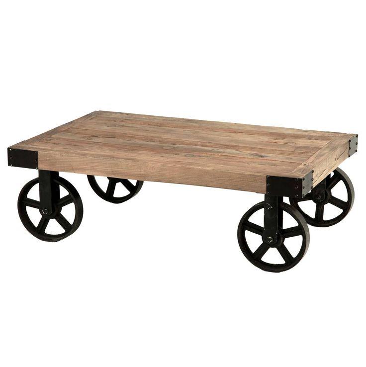 #Mesa con #ruedas #madera