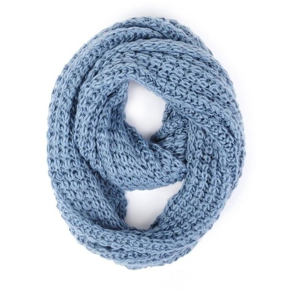 Paula Bianco Chunky Infinity Scarf in Faded Denim ($84) ❤ liked on Polyvore featuring accessories, scarves, accessories scarves & wraps, faded denim, infinity loop scarves, chunky loop scarf, tube scarf, round scarf and paula bianco