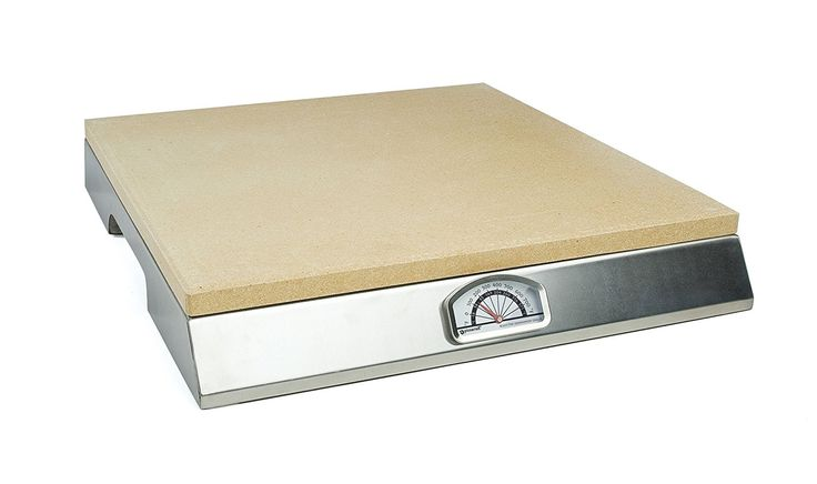 Pizzacraft Pizza Stone with Built-In Thermometer Base - PC0106 ** Startling review available here  : Pizza Pans and Stones