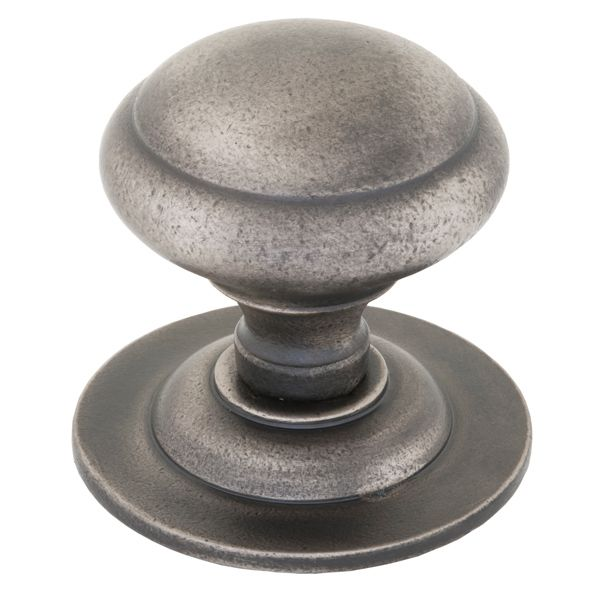Centre Door Knob - Antique Pewter Finish - This Centre Door Knob is cast from iron and given an antique pewter finish. A centre door knob has no locking mechanism and is used to assist the shutting of a door.