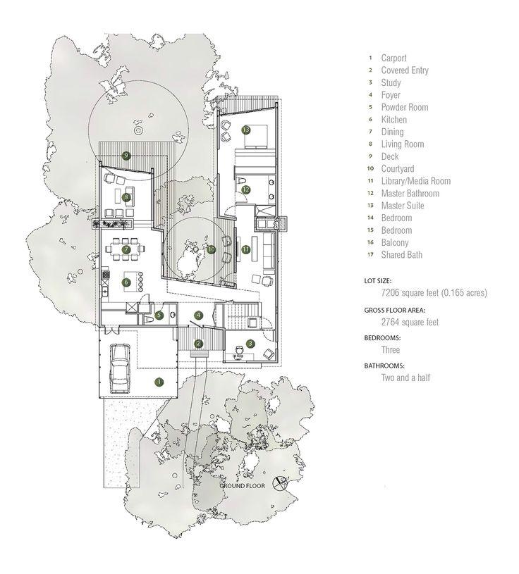 Image 22 of 31 from gallery of Tree House / Matt Fajkus Architecture. Ground Floor Plan