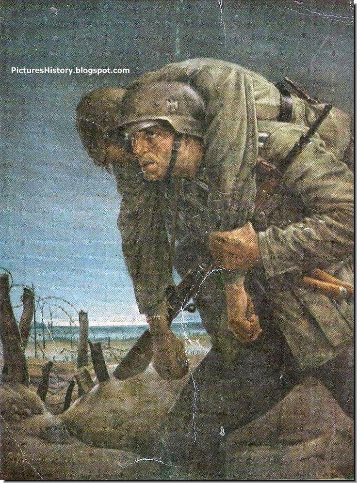 Claus Bergen, Hans Liska, Mathias Padua were great artists in Germany during WW2 whose military paintings were striking.