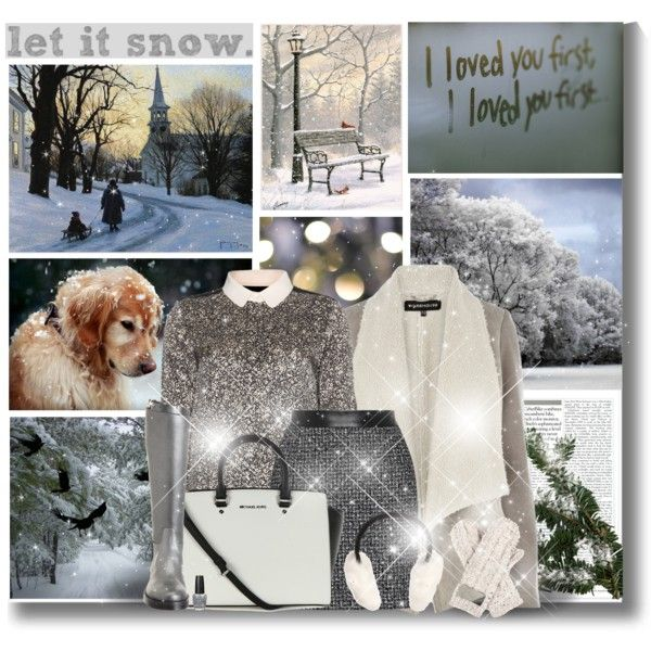 """Let it snow! Let it snow! Let it snow!"" by kikusek on Polyvore"
