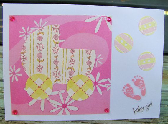 Hey, I found this really awesome Etsy listing at https://www.etsy.com/au/listing/205886679/baby-girl-new-baby-girl-handmade-card
