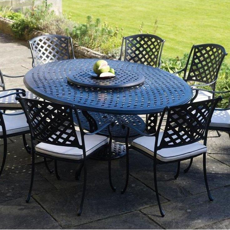 Cast iron aluminum patio furniture home design ideas and for Outdoor garden set