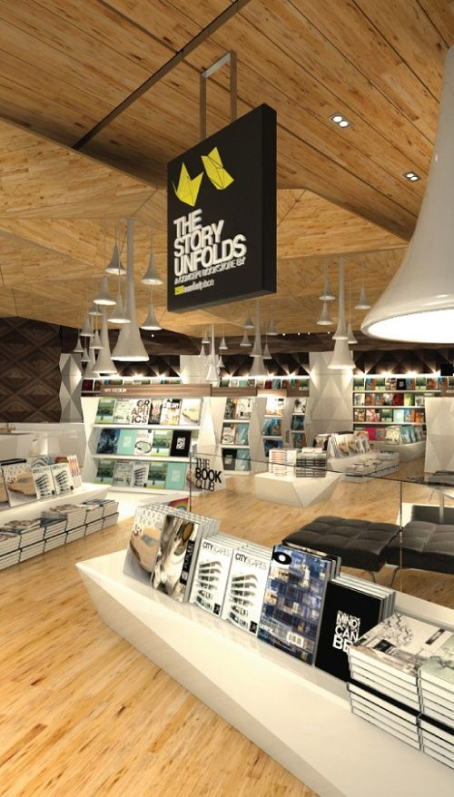 The Story Unfolds Book Store Design - Book shops becoming cool.