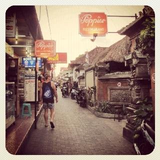 A tourists village at Kuta Bali, Poppies Lane 1.